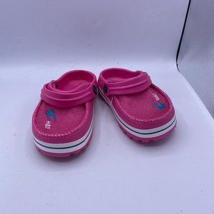 pink Children's sports stripes hole shoes